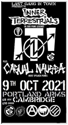 SOLD OUT - Last Gang In Town presents... INNER TERRESTRIALS + CASUAL NAUSEA